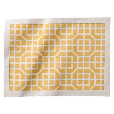 Placemat Yellow Threshold