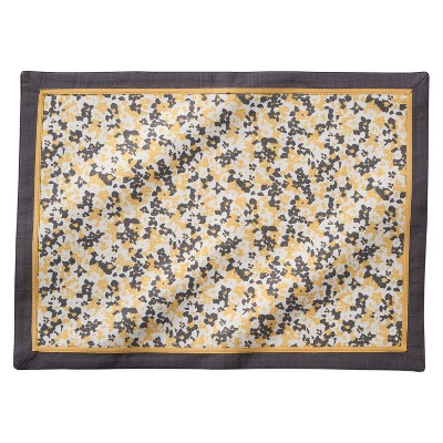 Threshold™ Ditsy Floral Placemat Set of 4 - Yellow/Gray