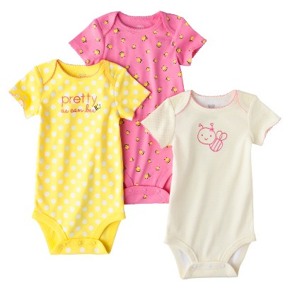 Just One You™Made by Carter's® Newborn Girls' 3 Pack Bee Bodysuit - Yellow/Pink