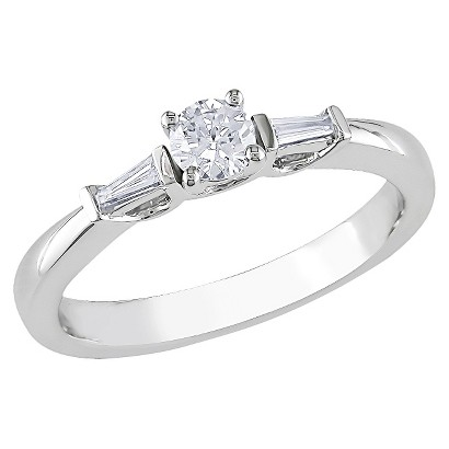 1/3 CT. T.W. Diamond in 10K White Gold Engagement Ring