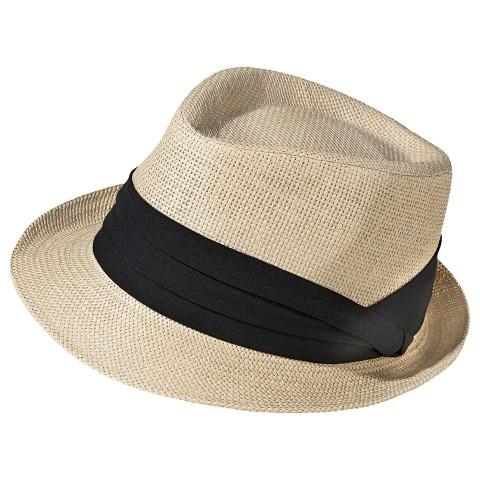 s straw fedora hat with black sash natur target