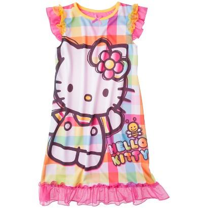 Hello Kitty Girls' Short-Sleeve Sleep Gown
