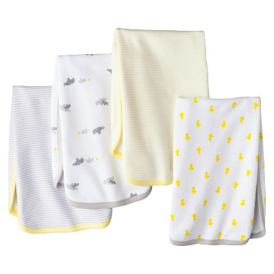 Just One You™Made by Carter's® Newborn 4 Pack Burp Cloth Set - Grey