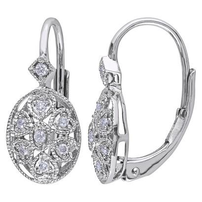 1/8 CT. T.W. Diamond Silver Earrings - Silver