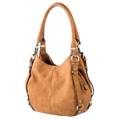 Women's Timeless Collection Small Hobo Faux Leather Handbag Tan - Merona™