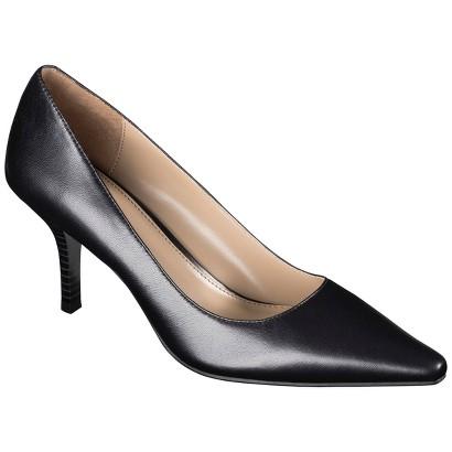 Women's Merona® Alaina Genuine Leather Mid Heel Pump - Assorted Colors