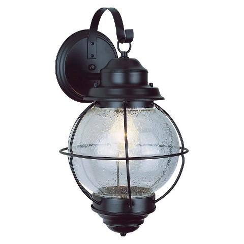 "Vintage Onion Lantern Wall Mount 13"" Black"