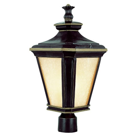 """Contemporary 23"""" Post Top Light in Brown Gold"""