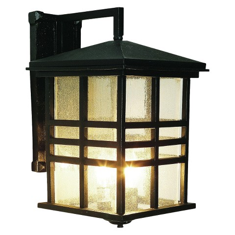 "Japanese Garden 16"" Outdoor Wall Light in Black"