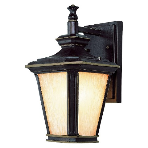 """Contemporary 13"""" Wall Sconce in Brown Gold"""