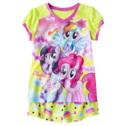 My Little Pony Girls' 2-Piece Short-Sleeve Pajama Set