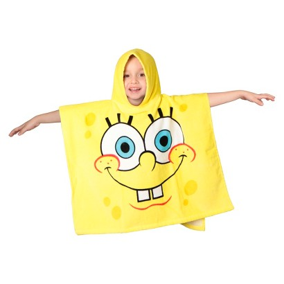 Nickelodeon Spongebob Toddler Poncho Bath Towel