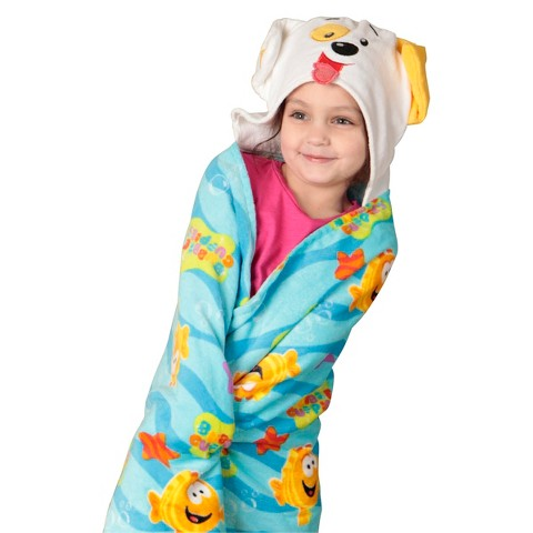 Nickelodeon Bubble Guppies Toddler Hooded Bath Towel