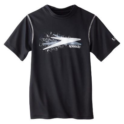 Speedo® Boys' Short-Sleeve Rashguard