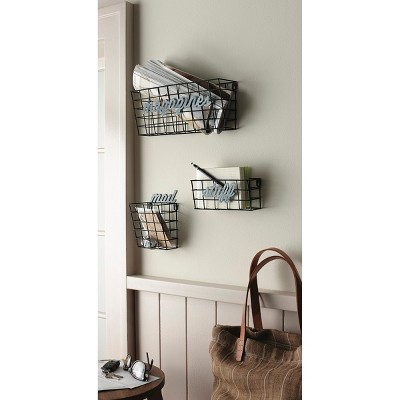 Metal Wall Baskets - Set of 3