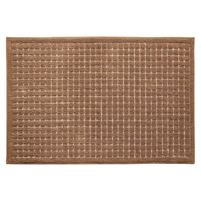 Room Essentials™ Grid Kitchen Rug - Tan