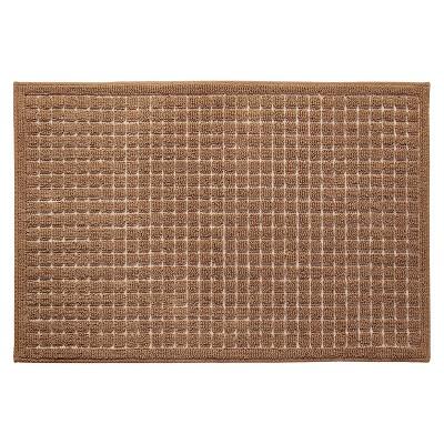 Room Essentials™ Grid Kitchen Rug - Tan