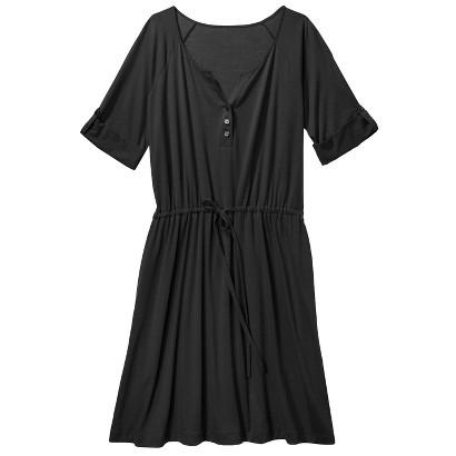 Merona Women's Plus-Size 3/4-Sleeve Tie-Waist Dress - Black