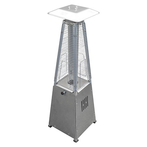 portable stainless steel glass patio heater target