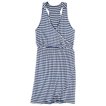 Merona® Women's Knit Wrap Racerback Dress - Waterloo Blue/Cream
