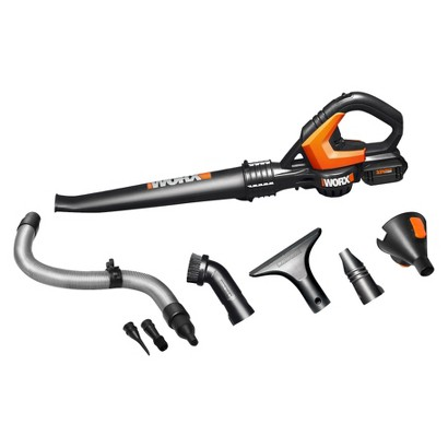 WORX WG545.1 20V Lithium Cordless Leaf Blower with Accessories