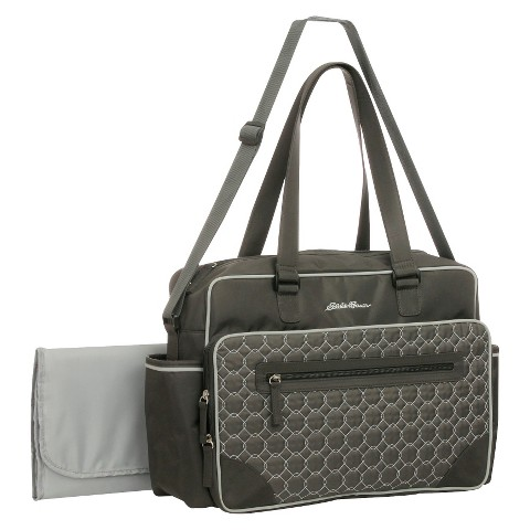 eddie bauer bremmerton duffle diaper bag gray target. Black Bedroom Furniture Sets. Home Design Ideas