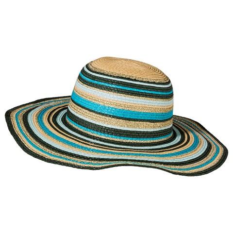 Merona® Striped Floppy Hat - Blue Multicolored