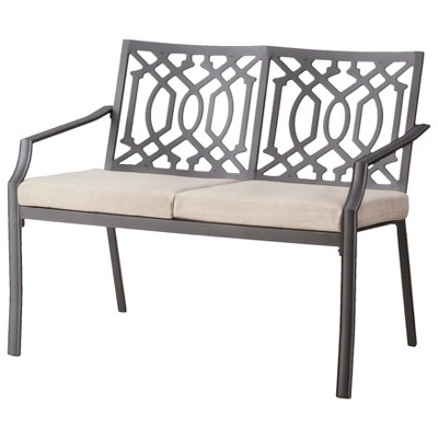 Harper Metal Patio Garden Bench - Tan - Threshold™