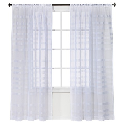 Threshold™ Striped Sheer Curtain Panel