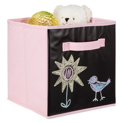 Circo Fabric Cube with Chalkboard Panel - Pink