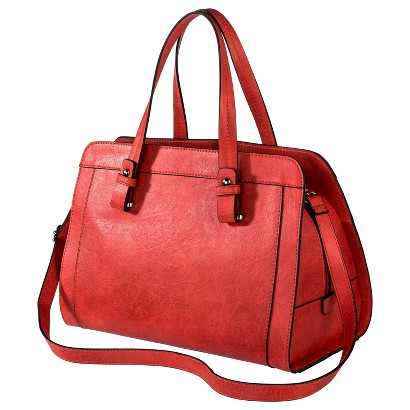 Merona® Satchel Handbag with Removable Crossbody Strap - Red-Orange