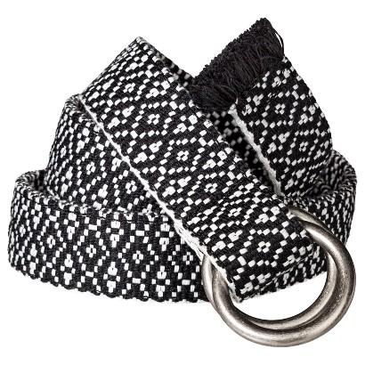 Mossimo Supply Co. Woven Geometric Print Belt - Black/White