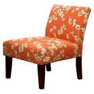 Avington Upholstered Slipper Chair Coral/White Floral