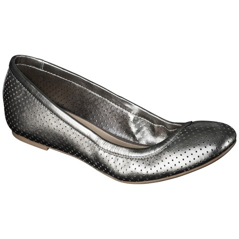 Women's Emma Perforated Genuine Leather Flats - Merona®