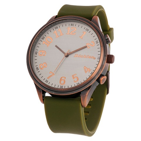 Dickies® Men's Flexible Strap Analog Watch - Copper/Olive