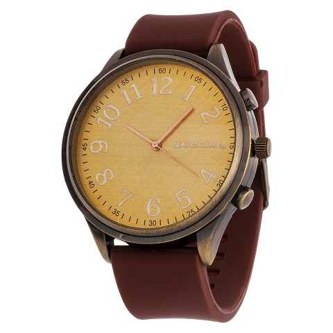 Dickies® Men's Flexible Strap Analog Watch - Brown