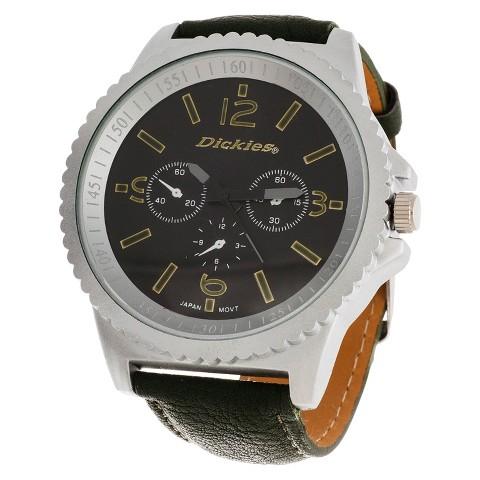 Dickies® Men's Analog Watch - Silver/Green