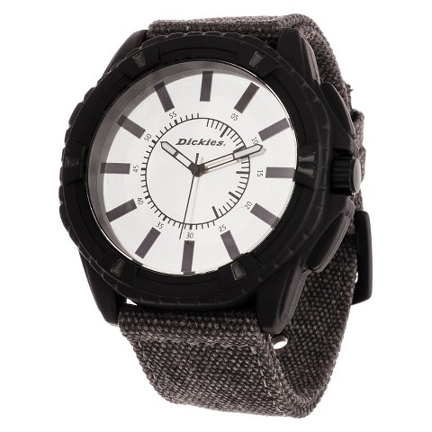 Dickies® Men's Nylon Strap Analog Watch - Black/Gray