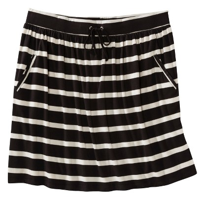 Merona Women's Plus-Size Front-Pocket Knit Skirt - Black/Cream