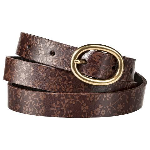 Merona® Floral Skinny Belt - Brown