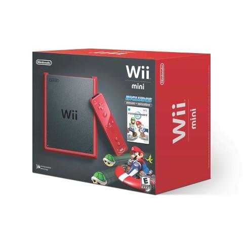 Nintendo Wii Red Mini with Mario Kart (Nintendo Wii)