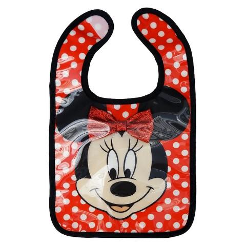 Disney Minnie Mouse Under Glass Baby Bib