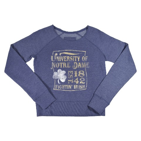 Notre Dame Fighting Irish Kid's Crew Neck Sweatshirt - Grey