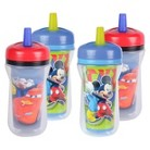 The First Years 4pk Disney Cars/Mickey Mouse Straw Cup