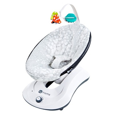 4moms rockaRoo Plush Swing - Silver