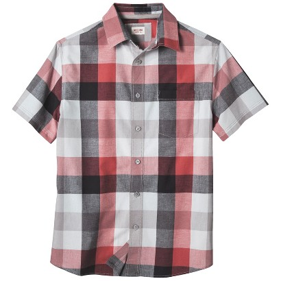 Mossimo Supply Co. Men's Short Sleeve Plaid Shirt