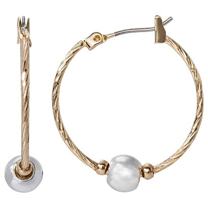 Lonna & Lilly Medium Hoop with Bead - Gold/Silver