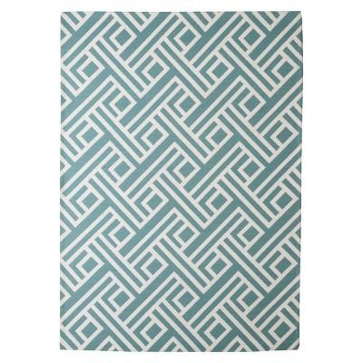 Threshold™ Indoor/Outdoor Flatweave Diamond Area Rug - Turquoise (7'x10')