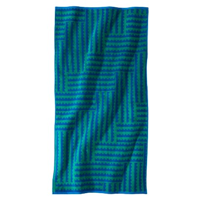 NATE BERKUS™ ZIG ZAG BEACH TOWEL - BLUE/GREEN