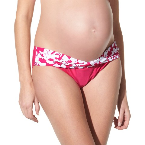 Maternity Twist Front Hipster Swim Bottom - Assorted Colors